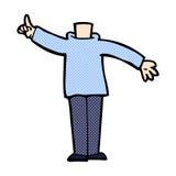κωμικό σώμα κινούμενων σχεδίων με το αυξημένο χέρι (κωμικό cartoo μιγμάτων και αντιστοιχιών Στοκ εικόνες με δικαίωμα ελεύθερης χρήσης