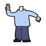 κωμικό σώμα κινούμενων σχεδίων που δίνει το σημάδι ειρήνης (κωμικό cartoo μιγμάτων και αντιστοιχιών Στοκ εικόνες με δικαίωμα ελεύθερης χρήσης