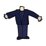 κωμικό σώμα κινούμενων σχεδίων στο κοστούμι (τα κωμικά κινούμενα σχέδια μιγμάτων και αντιστοιχιών ή προσθέτουν Στοκ Φωτογραφίες