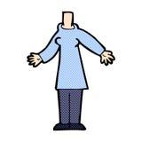 κωμικό σώμα κινούμενων σχεδίων (τα κωμικά κινούμενα σχέδια μιγμάτων και αντιστοιχιών ή προσθέτουν το phot Στοκ Εικόνες