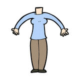 κωμικό σώμα κινούμενων σχεδίων (τα κωμικά κινούμενα σχέδια μιγμάτων και αντιστοιχιών ή προσθέτουν το phot Στοκ εικόνα με δικαίωμα ελεύθερης χρήσης