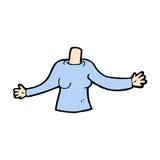 κωμικό σώμα κινούμενων σχεδίων (τα κωμικά κινούμενα σχέδια μιγμάτων και αντιστοιχιών ή προσθέτουν το phot Στοκ φωτογραφίες με δικαίωμα ελεύθερης χρήσης
