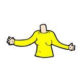 κωμικό σώμα κινούμενων σχεδίων (τα κωμικά κινούμενα σχέδια μιγμάτων και αντιστοιχιών ή προσθέτουν το phot Στοκ φωτογραφία με δικαίωμα ελεύθερης χρήσης