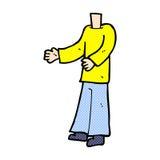 κωμικό σώμα κινούμενων σχεδίων (τα κωμικά κινούμενα σχέδια μιγμάτων και αντιστοιχιών ή προσθέτουν το pho Στοκ φωτογραφίες με δικαίωμα ελεύθερης χρήσης