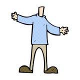 κωμικό σώμα κινούμενων σχεδίων (τα κωμικά κινούμενα σχέδια μιγμάτων και αντιστοιχιών ή προσθέτουν δικοί σας Στοκ εικόνες με δικαίωμα ελεύθερης χρήσης