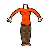 κωμικό σώμα κινούμενων σχεδίων (τα κωμικά κινούμενα σχέδια μιγμάτων και αντιστοιχιών ή προσθέτουν το phot Στοκ Εικόνα