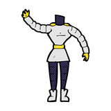 κωμικό σώμα ρομπότ κινούμενων σχεδίων θηλυκό (κωμικά κινούμενα σχέδια ο μιγμάτων και αντιστοιχιών Στοκ εικόνες με δικαίωμα ελεύθερης χρήσης