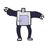 κωμικό σώμα ρομπότ κινούμενων σχεδίων (τα κωμικά κινούμενα σχέδια μιγμάτων και αντιστοιχιών ή προσθέτουν ow Στοκ Εικόνες