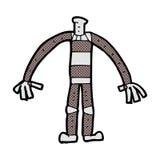 κωμικό σώμα ρομπότ κινούμενων σχεδίων (τα κωμικά κινούμενα σχέδια μιγμάτων και αντιστοιχιών ή προσθέτουν ow Στοκ Φωτογραφία