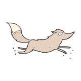 κωμικό τρέξιμο λύκων κινούμενων σχεδίων Στοκ εικόνα με δικαίωμα ελεύθερης χρήσης