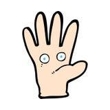 κωμικό χέρι κινούμενων σχεδίων με τα μάτια Στοκ φωτογραφίες με δικαίωμα ελεύθερης χρήσης
