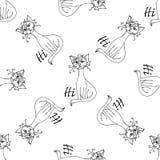 Κωμικό χέρι σχεδίων γατών που σύρεται Αντικείμενο που απομονώνεται στο λευκό Στοκ Εικόνες