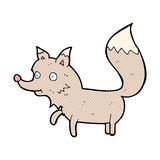 κωμικό cub λύκων κινούμενων σχεδίων Στοκ Φωτογραφίες