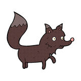κωμικό cub λύκων κινούμενων σχεδίων Στοκ Φωτογραφία