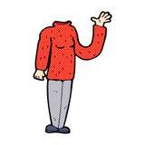 κωμικό headless σώμα κινούμενων σχεδίων (τα κωμικά κινούμενα σχέδια μιγμάτων και αντιστοιχιών ή προσθέτουν Στοκ Εικόνα