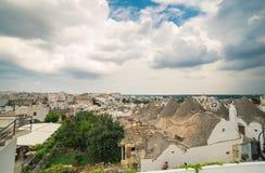 Κωνικές στέγες του trulli Alberobello Στοκ εικόνες με δικαίωμα ελεύθερης χρήσης