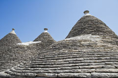 κωνικές στέγες apulia alberobello Στοκ φωτογραφία με δικαίωμα ελεύθερης χρήσης
