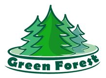 Κωνοφόρο δάσος λογότυπων διανυσματική απεικόνιση
