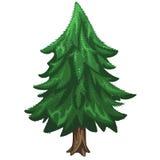 Κωνοφόρο δέντρο πεύκων, σύμβολο Χριστουγέννων διανυσματική απεικόνιση