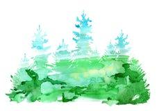 Κομψά σύνορα Κωνοφόρο forestSilhouette των δέντρων έλατου απεικόνιση αποθεμάτων