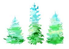 Κομψά σύνορα Κωνοφόρο forestSilhouette των δέντρων έλατου διανυσματική απεικόνιση