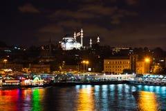 Κωνσταντινούπολη Τουρκία τη νύχτα Στοκ φωτογραφία με δικαίωμα ελεύθερης χρήσης