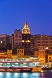 Κωνσταντινούπολη Τουρκία τη νύχτα Στοκ φωτογραφίες με δικαίωμα ελεύθερης χρήσης