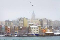 Κωνσταντινούπολη το χειμώνα Στοκ εικόνα με δικαίωμα ελεύθερης χρήσης