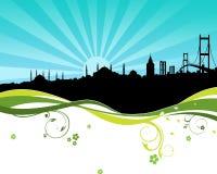 Κωνσταντινούπολη silhoutte απεικόνιση αποθεμάτων