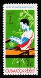Κωπηλατώντας, 18οι Ολυμπιακοί Αγώνες στο Τόκιο, circa 1964 Στοκ φωτογραφία με δικαίωμα ελεύθερης χρήσης