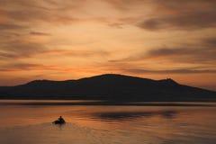 Κωπηλασία βραδιού Στοκ φωτογραφίες με δικαίωμα ελεύθερης χρήσης