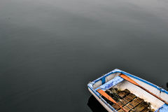 Κωπηλασία της βάρκας στη λίμνη Στοκ εικόνες με δικαίωμα ελεύθερης χρήσης