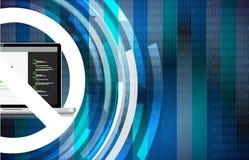 κωδικοποίηση να μην επιτρέψει τον υπολογιστή ηλεκτρονικό Στοκ Εικόνα