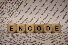 Κωδικοποιήστε - κυβίστε με τις επιστολές και τις λέξεις από τον υπολογιστή, λογισμικό, κατηγορίες Διαδικτύου, ξύλινοι κύβοι στοκ φωτογραφία με δικαίωμα ελεύθερης χρήσης