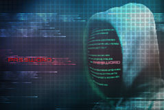Κωδικός πρόσβασης κωδικοποίησης χάκερ Pixelated από τον ασφαλή κώδικα Διαδικτύου Στοκ εικόνες με δικαίωμα ελεύθερης χρήσης