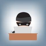 Κωδικός πρόσβασης χάραξης χάκερ στο σημειωματάριο στον πίνακα, διάνυσμα απεικόνισης στο επίπεδο σχέδιο Στοκ φωτογραφίες με δικαίωμα ελεύθερης χρήσης