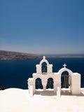 Κωδωνοστοιχία σε Santorini Στοκ Φωτογραφίες
