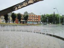Κωδωνοστοιχία στην πόλη Sakiai, Λιθουανία στοκ εικόνες με δικαίωμα ελεύθερης χρήσης
