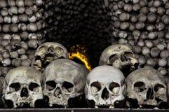 κόκκαλων τσεχικά κρανία δημοκρατιών φωτογραφιών kutna hora ανθρώπινα Στοκ εικόνες με δικαίωμα ελεύθερης χρήσης