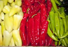 Κόκκινα, άσπρα και πράσινα χρωματισμένα λαχανικά ως ουγγρικό tricolor Στοκ φωτογραφία με δικαίωμα ελεύθερης χρήσης