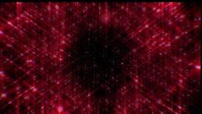 κόκκινα αστέρια Ακτίνες του κοκκίνου αστεριών απόθεμα βίντεο
