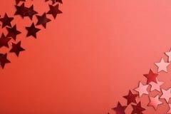 κόκκινα αστέρια ανασκόπησης Στοκ φωτογραφίες με δικαίωμα ελεύθερης χρήσης