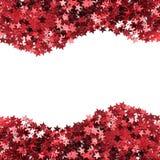 Κόκκινα αστέρια κομφετί Στοκ Φωτογραφίες