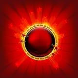 κόκκινα αστέρια πλαισίων Στοκ εικόνα με δικαίωμα ελεύθερης χρήσης