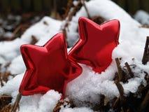 Κόκκινα αστέρια Χριστουγέννων Στοκ φωτογραφία με δικαίωμα ελεύθερης χρήσης