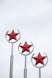 κόκκινα αστέρια Στοκ Φωτογραφίες