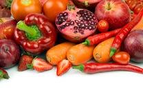 Κόκκινα λαχανικό και φρούτα στοκ εικόνες