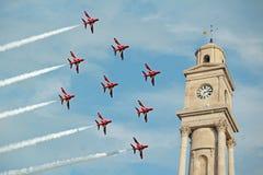 Κόκκινα βέλη flyby Στοκ Εικόνες