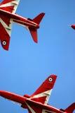 Κόκκινα βέλη RAF Fairford στη δερματοστιξία αέρα Στοκ εικόνες με δικαίωμα ελεύθερης χρήσης