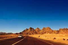 Κόκκινα βουνά του εθνικού πάρκου Ras Mohammed Στοκ Φωτογραφία